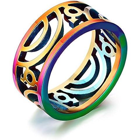 LianDuo Gay Uomini Orgoglio gioielli in acciaio inossidabile Hollow Maschio Simbolo arcobaleno Orgoglio Fede