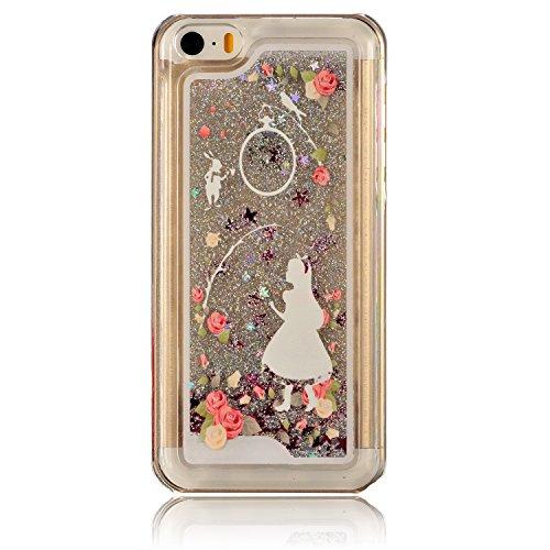 iPhone 5C Coque Silicone,iPhone 5C Coque Transparente,Coque Housse pour iPhone 5C,iPhone 5C Souple Coque Etui en Silicone,EMAXELERS iPhone 5C Coque Silicone Etui Housse,iPhone 5C Coque blanc Fleur Mod Fairy Girl 5