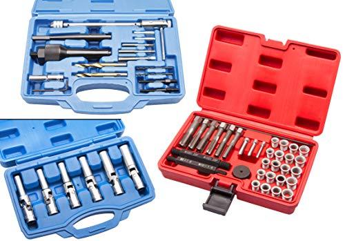 Preisvergleich Produktbild O Glühkerzen Gewinde Reparatur + Glühkerzen-Schlüssel + Glühkerzen Ausbohr Werkzeug