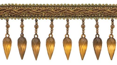 Goldene Farbe Dekorative Trimmen (Braun Gold Barock Coll. 7,6cm Fransen Perlen Stil # b78b Farbe: Golden Chestnut-5207(Verkauft von der Hof))
