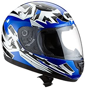 Protectwear SA03-BL-XS Kinder Motorradhelm, Integralhelm, Größe XS (YL 52-53cm), Blau/Weiß