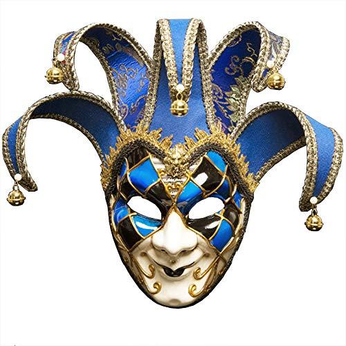 BLEVET Venezianische Maske Gesichtsmaske Joker Karneval Fasching Maskenball -