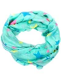Damen Loop Schal Schlauchschal Tube mit Print Sterne Stars in verschiedenen Farben