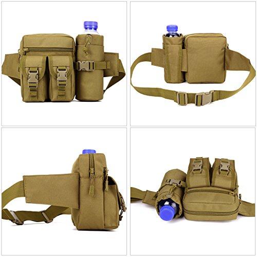 matoger Military Tactical Wasser Flasche Waist Pack Outdoor klein MOLLE Fanny Gürteltasche schwarz
