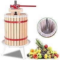 AMNZZ De Madera Fruta Prensa - 6 litros Manual Exprimidores para Hecho en casa Jugo, Vino & Sidra Fabricación