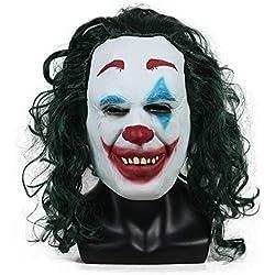 XDDXIAO Accesorio de Vestuario de la película Joker Mask Joaquin Phoenix Masks Halloween Helmet Party Props