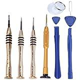 ukcoco 10pcs/pack strumento di riparazione professionale kit apertura Pry Strumenti di Cacciavite magnetico Set per iPhone x/8Plus/7Plus/7/6Plus/6S/6/5/5S/5C/5/iPad 4/3/2/mini/iPod/Mi tocco