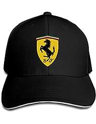 yhsuk Ferrari Sandwich Peaked Hat/Cap Black