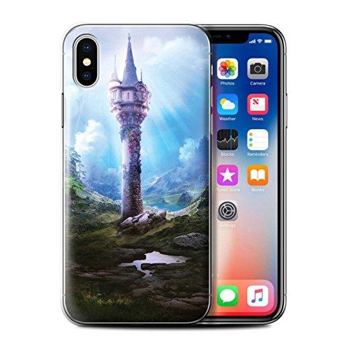 Offiziell Elena Dudina Hülle / Case für Apple iPhone X/10 / Ozean Trümmer Muster / Fantasie Landschaft Kollektion Magie Turm