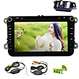 Neue Quad-Core-VW-Autoradio DVD GPS Wifi Navi Android 5.1 VW GOLF6 POLO JETTA TOURAN EOS PASSAT CC TIGUAN SHARAN SCIROCCO Caddy + 3D-GPS-Karte + Can Bus + Wireless Backup-Kamera