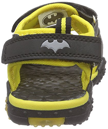 Batman Vrongis, Sandales ouvertes garçon Jaune - Gelb (Black/Yellow)