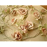 Artificial Pink Rose Decorative Wired Garland Swag ~ Shabby Chic