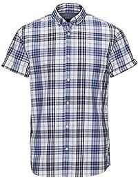 JACK   JONES Kurzarm Hemd Herren Jask Shirt Kariert Slim Fit Baumwolle  Freizeit S,M f81d66b49f