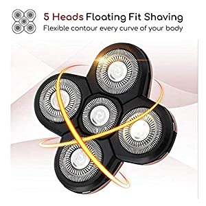 Dee Banna 5 Blades System Shaving Heads Replacement for Dee Banna Upgraded Blad Head Shavers
