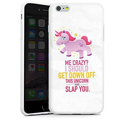 Apple iPhone X Silikon Hülle Case Schutzhülle Einhorn Unicorn Mädchen Geschenk Silikon Case weiß