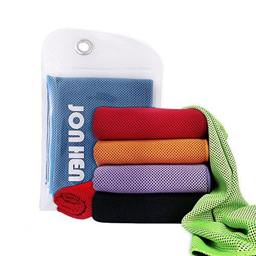 Jonhen Kühltuch Instant Relief,100 x 30 cm,Fitness Handtuch Stay Cool für Sport,Pilates,Reisen,Golf,Wandern (Schweiß Handtücher Kleine Turnhalle)
