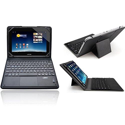 LEDELI Bluetooth Wireless QWERTZ deutsche Tastatur Keyboard mit Schutzhülle Case Cover Tasche Hülle Etui für Medion (für MEDION LIFETAB P9516)