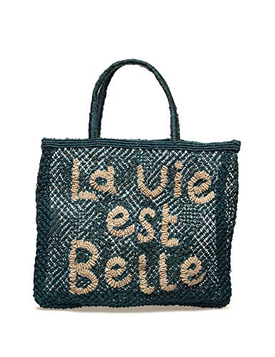 THE JACKSONS La Vie Est Belle Women's Petrol Beach Bag Blue - Bella Beach Bag