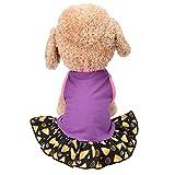 Hawkimin Haustier Weste Rock Stilvolles Lila Stars Baumwollmischung Frühlings und Sommer Hunde Katze Kostüm Kleid Weste für Kleine Haustiere