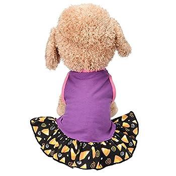 Chiens Textiles et Accessoires,Robe pour Chien De Petite Taille T-Shirt pour Chien,Chiens Pull-Overs (XXS, Violet)