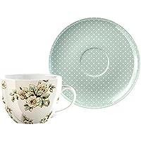 Katie Alice - Porcelain Cottage Flower Large Breakfast Cup & Saucer Set