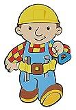 Unbekannt 3-D Wandtattoo / Wandbild / Türschild - XL Bob der Baumeister aus Moosgummi - Baustelle Wandsticker Wanddeko für Kinderzimmer Kind Kinder Deko Bilder