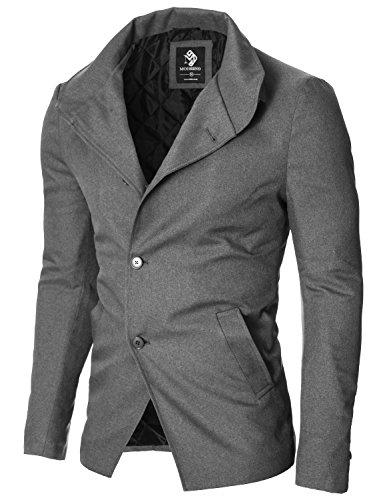 MODERNO - Slim Fit Freizeit Herren Sakko Casual Jacke (MOD14520B) Grau