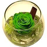Tamaño de bola de cristal con verde estabilizada rosa