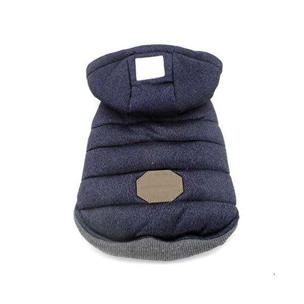 SELMAI Hooded Dog Coat Stylish Small Puppy Dog Clothes(This style run small,pls choose one size larger) 3