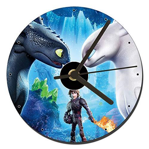 MasTazas como Entrenar A Tu Dragon El Mundo Oculto How To Train Your Dragon The Hidden World Reloj CD Clock 12cm