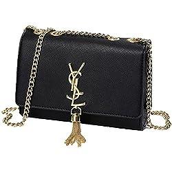 2018Verano Nueva borla bolso Cadena bandolera Mini Clutch Lady sobre funda negro Negro Talla:22 * 15 * 6cm