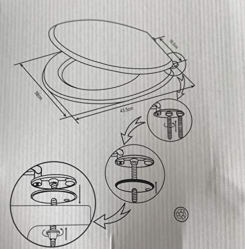 SEDILE COPRIWATER TAVOLETTA BIANCO UNIVERSALE PER BAGNO COPRI WC IN LEGNO