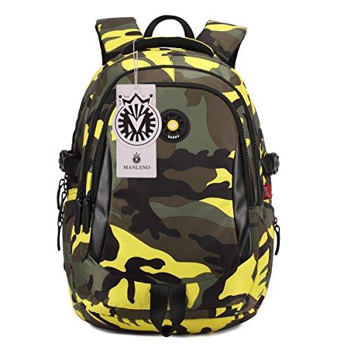 manleno-nylon-kinder-rucksack-aussen-daypack-schultaschen-fur-jungen-und-madchen-gelb-grosse