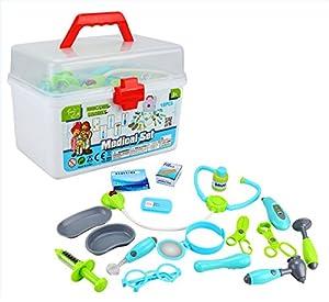 Joueco-Juegos de imitación-Set Doctor-17Piezas, bn0232147, Color Gris/Azul/Verde