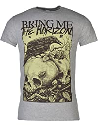 Official Bring Me The Horizon Crow T-Shirt Mens Grey Top Tee Shirt
