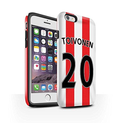 Offiziell Sunderland AFC Hülle / Glanz Harten Stoßfest Case für Apple iPhone 6 / Pack 24pcs Muster / SAFC Trikot Home 15/16 Kollektion Toivonen