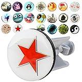 Ablaufgarnitur für Waschbecken mit 20 verschiedenen Designs Waschbeckenstöpsel Abfluss Ablauf