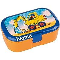 Lunchbox * Bagger Plus Wunschname * für Kinder von Lutz Mauder // Baustelle Brotdose mit Namensdruck // Perfekt für Jungen // Vesperdose Brotzeitbox Brotzeit (mit Namen) preisvergleich bei kinderzimmerdekopreise.eu