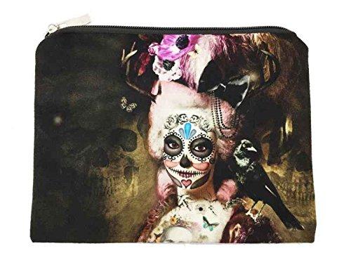 Kosmetiktasche Marie Antoinette (Santa Muerte), Kulturbeutel, Schminktasche, Mäppchen, Schmucktasche -