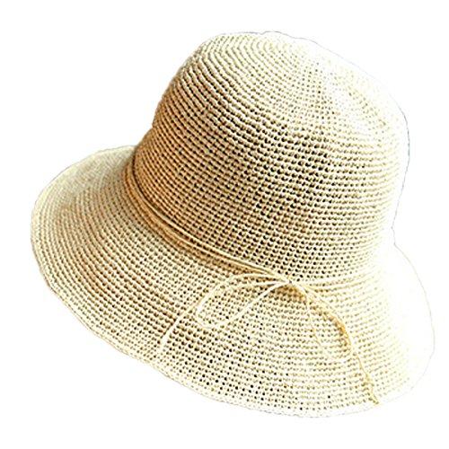 Voyage De Vacances Femmes Mode Coréenne Grand Large Sun Beach Chapeau De Paille 06