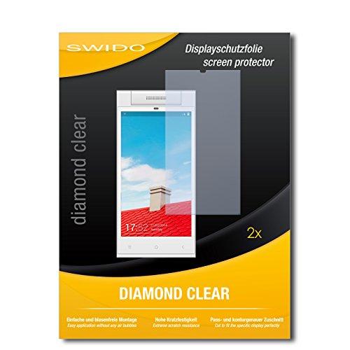 SWIDO 2 x Bildschirmschutzfolie Gionee Elife E7 Mini Schutzfolie Folie DiamondClear unsichtbar
