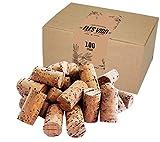 100 neue Weinkorken - Bastelkorken in Karton - Korken - Auch für verkorken von Wein oder Dekorieren, Kreativ, DIY und Basteln - Flaschenkorken als Bastelzubehör in 24mm x 45mm Naturmaterial Dunkel neu
