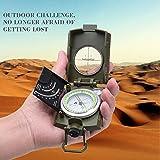 ARINO Kompass Linseatischer Kompass Professioneller Peilkompass Militär- Wanderkompass mit Leuchtziffern für Expeditionen Camping Wandern Outdoor Sport Backpacker XL mit Schutztasche -