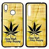 Handyhülle Cannabis für Huawei | Silikon Marihuana Weed Grass Hanf Canabis Joint, Hüllendesign:Design 4 | Silikon Schwarz, Handymodell:Huawei P20 Lite