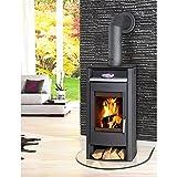 Fireplace Kaminofen »Paris« - Stahl - 6 kW - mit Speckstein - max. 108 m³