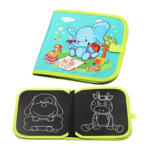 AAGOOD Puzzle Infantil Junta Blanda Pintada patrón Elefante Animal 1 PackElephant niños Suave Tiza Libro M