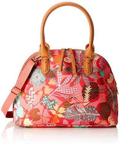 Oilily Damen Boston Bag Henkeltasche, (Pink Flamingo), 16x27x36 cm -