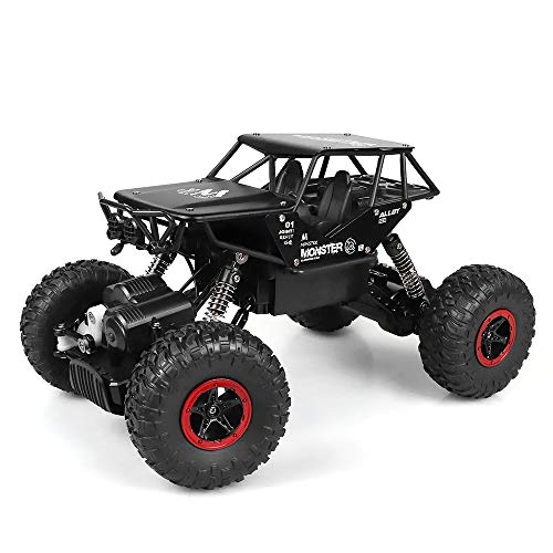 RC Auto, Rabing Ferngesteuertes Auto Off-Road-Rock-Fahrzeug-Raupen-LKW 2,4 GHz 4WD High Speed 1:14 Funkfernsteuerung Rennwagen Elektro Fast Race Buggy Hobby Auto