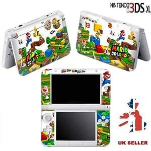 Super Mario Land Skin en vinyle pour Nintendo 3DS XL Skin en vinyle pour console dans un Retail Pack Lot. Prêt pour rapide 1ère classe UK Post.
