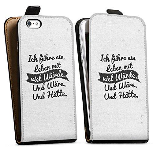 Apple iPhone X Silikon Hülle Case Schutzhülle Leben Humor Sprüche Downflip Tasche schwarz
